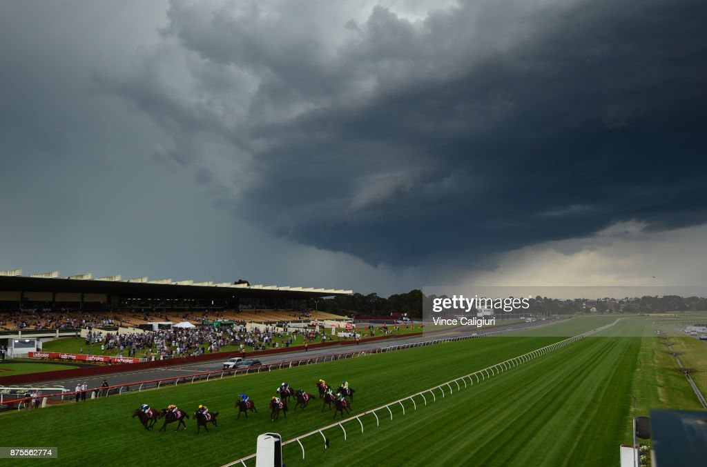 Luke Nolen riding Villermont wins Race 8, Sandown Guineas during Melbourne Racing at Sandown Hillside on November 18, 2017 in Melbourne, Australia.
