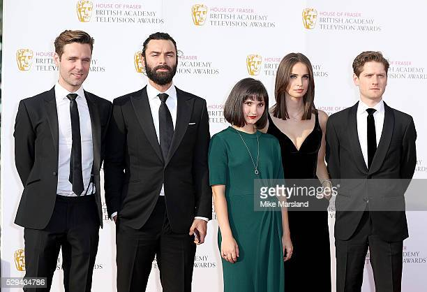 Luke Norris Aidan Turner Ruby Bentall Heida Reed and Kyle Soller arrive for the House Of Fraser British Academy Television Awards 2016 at the Royal...