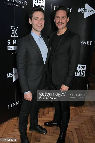 Luke Norris and Ben Aldridge attend the SMS Battles Quiz for The MS Society raising vital funds for Multiple Sclerosis research at the Royal...