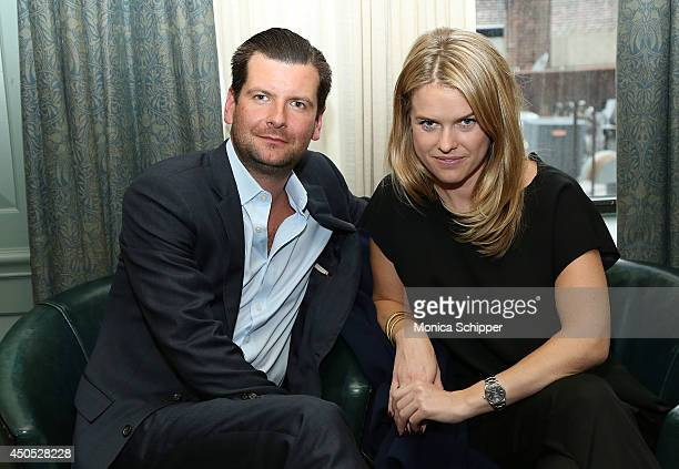 Luke Parker Bowles Chairman of Film Events BAFTA New York and actress Alice Eve attend Brits To Watch Director/Writer Hong Khaou at Soho House on...