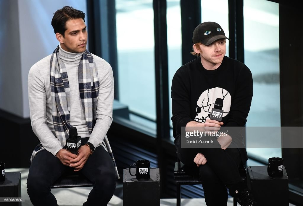 Luke Pasqualino and Rupert Grint attend the Build Series to discuss the new show 'Snatch' at Build Studio on March 13, 2017 in New York City.