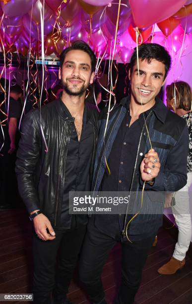 Luke Pasqualino and Sean Teale attend the launch of The Curtain in Shoreditch on May 11 2017 in London England