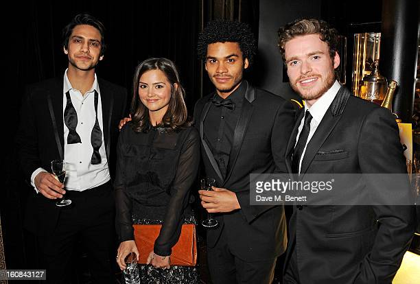Luke Pasqualino JennaLouise Coleman guest and Richard Madden attend the PreBAFTA Party hosted by EE and Esquire ahead of the 2013 EE British Academy...