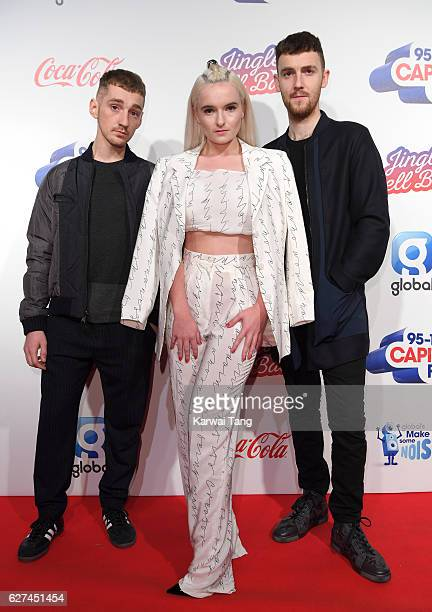 Luke Patterson Grace Chatto and Jack Patterson from Clean Bandit attends Capital's Jingle Bell Ball with CocaCola at the 02 Arena on December 3 2016...