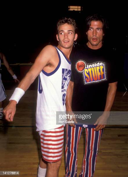 Luke Perry and Billy Wirth at the First Annual MTV Rock N' Jock BBall Celebrity Charity Baseball Game Gersten Pavilion at Loyola Marymount University...