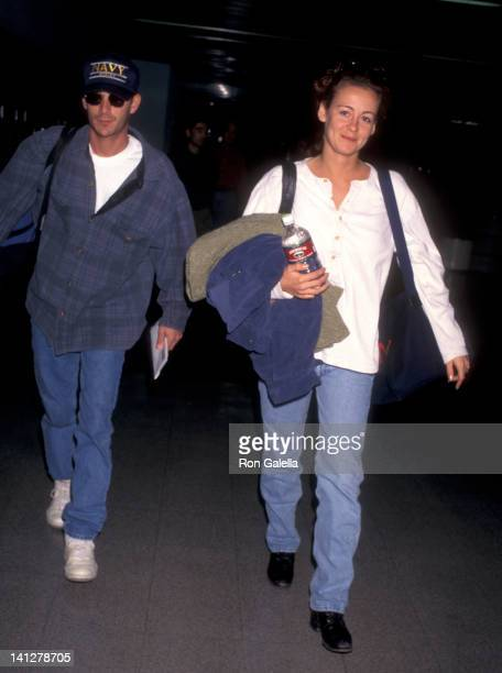 Luke Perry and Minnie Sharp at Los Angeles International Airport Los Angeles