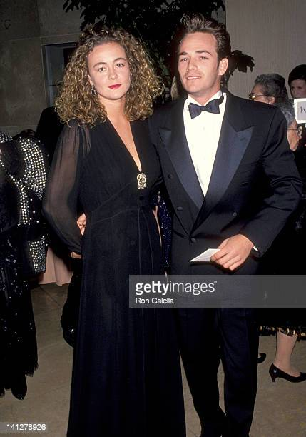 Luke Perry and Minnie Sharp at t he American Friends of The Hebrew University's National Scopus Award Honoring Aaron Spelling Beverly Hills