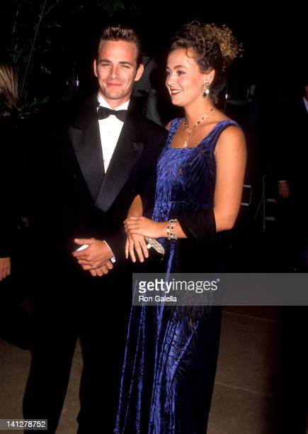 Luke Perry and Minnie Sharp at the 1992 Carousel of Hope Ball Beverly Hilton Hotel Beverly Hills