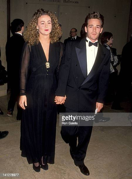 Luke Perry and Minnie Sharp at the American Friends of The Hebrew University's National Scopus Award Honoring Aaron Spelling Beverly Hilton Hotel