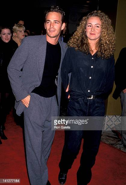 Luke Perry and Minnie Sharp at the Premiere of 'Interview with the Vampire The Vampire Chronicles' Mann Village Theatre Westwood