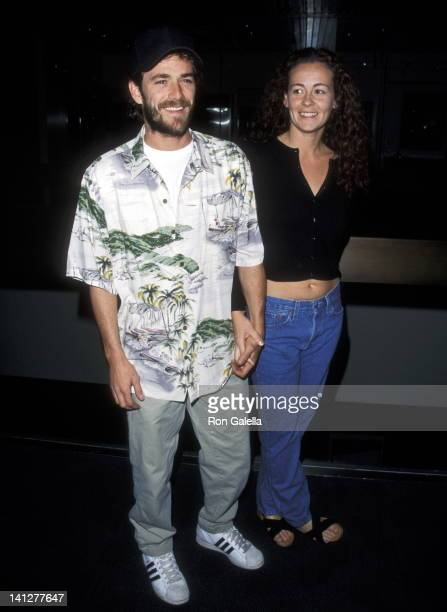 Luke Perry and Minnie Sharp at the Premiere of 'Judas Kiss' Pacific Design Center West Hollywood