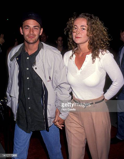 Luke Perry and Minnie Sharp at the Premiere of 'Threesome' Academy Theatre Beverly Hills