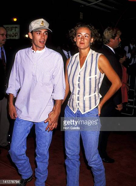 Luke Perry and Minnie Sharp at the Premiere of 'True Romance' Mann's Chinese Theatre Hollywood