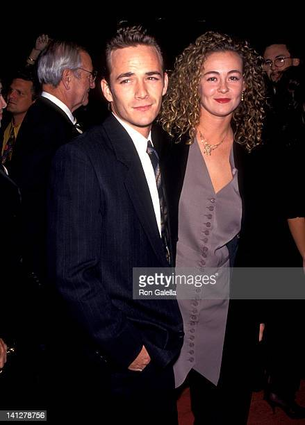 Luke Perry and Minnie Sharp at the Preview for 'Sunset Blvd' Shubert Theatre Century City