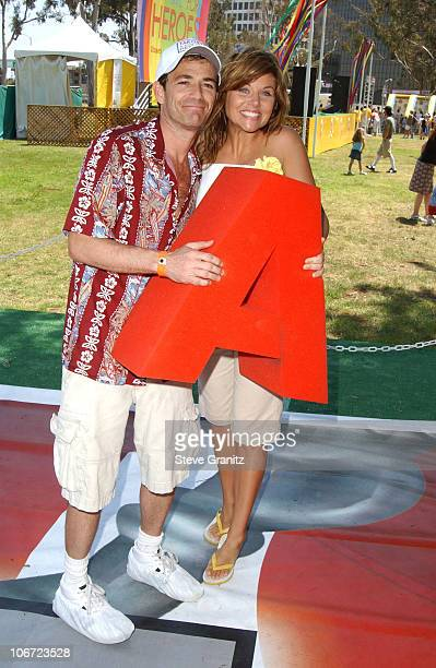 Luke Perry and Tiffani Thiessen at the 2004 Target A Time for Heroes Celebrity Carnival to benefit the Elizabeth Glaser Pediatric AIDS Foundation