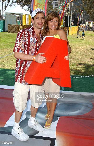 Luke Perry and Tiffani Thiessen at the 2004 Target A Time for Heroes Celebrity Carnival to benefit the Elizabeth Glaser Pediatric AIDS Foundation...