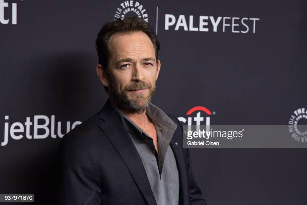 "Luke Perry arrives for the 2018 PaleyFest Los Angeles - CW's ""Riverdale"" at Dolby Theatre on March 25, 2018 in Hollywood, California."