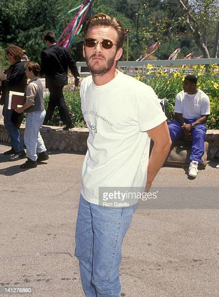 Luke Perry at the 5th Annual A Time for Heroes Celebrity Carnival Benefit Elizabeth Glaser Pediatric AIDS Foundation Mandeville Canyon