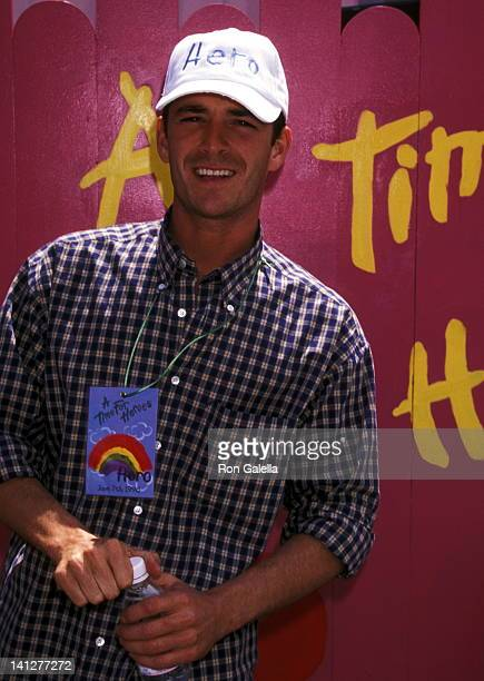 Luke Perry at the 9th Annual A Time for Heroes Celebrity Carnival Benefit Elizabeth Glaser Pediatric AIDS Foundation Home of Ken Roberts Brentwood