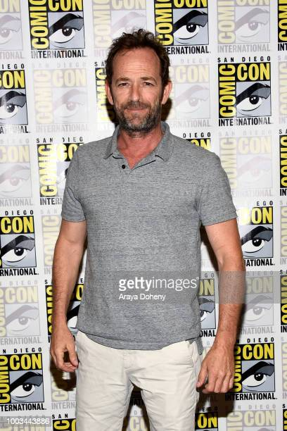 Luke Perry attends the 'Riverdale' Press Line during ComicCon International 2018 at Hilton Bayfront on July 21 2018 in San Diego California