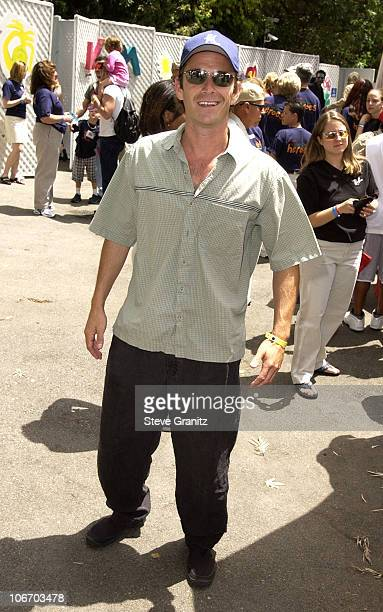 Luke Perry during Target A Time For Heroes To Benefit The Elizabeth Glaser Pediatric AIDS Foundation at Mandeville Canyon Park in Los Angeles...