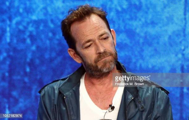 Luke Perry from Riverdale speaks onstage at the CW Network portion of the Summer 2018 TCA Press Tour at The Beverly Hilton Hotel on August 6 2018 in...