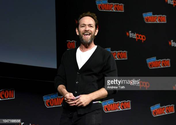Luke Perry speaks onstage at the Riverdale Sneak Peek and QA during New York Comic Con at The Hulu Theater at Madison Square Garden on October 7 2018...