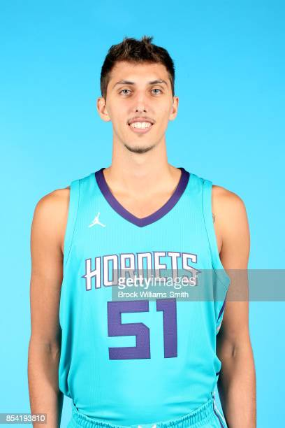 Luke Petrasek of the Charlotte Hornets poses for a head shot during media day at Spectrum Center in Charlotte North Carolina NOTE TO USER User...