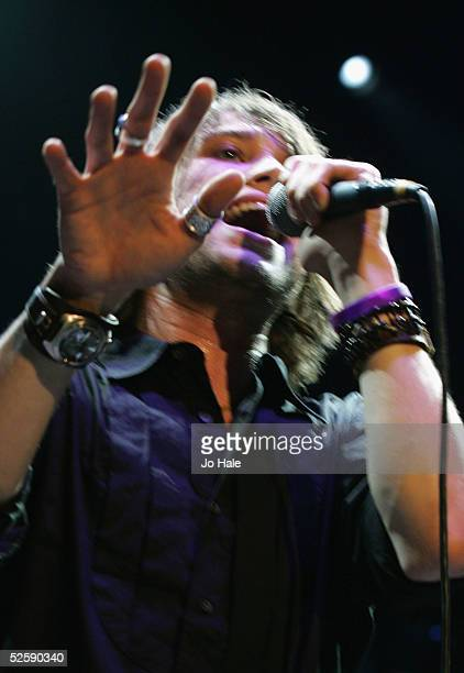 Luke Potashnick of Rooster support Robert Plant who performs on stage with The Sensations at the first in a series of 5 charity gigs in aid of the...