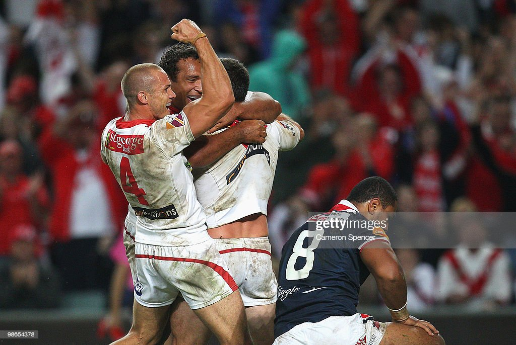 NRL Rd 7 - Dragons v Roosters