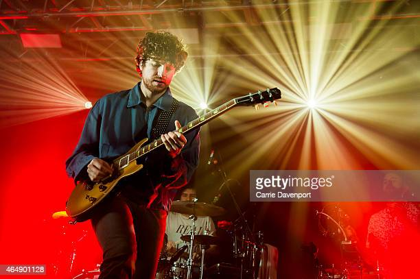 Luke Pritchard and Alexis Nunez of the Kooks performs on stage at Mandela Hall on March 1 2015 in Belfast United Kingdom