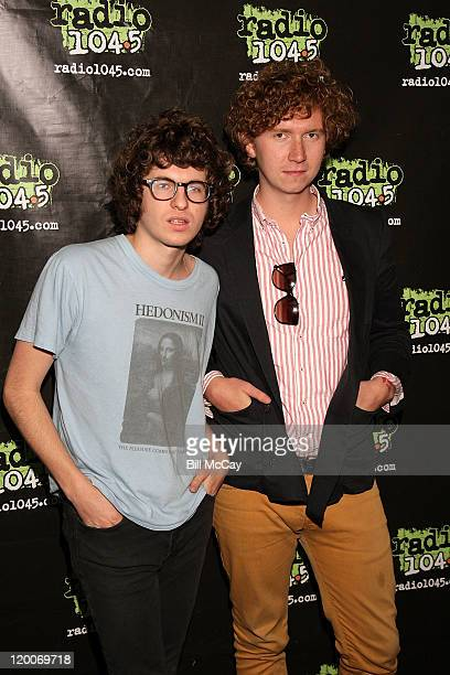 Luke Pritchard and Hugh Harris of The Kooks visit Radio Station 1045 July 29 2011 in Bala Cynwyd Pennsylvania