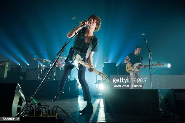 Luke Pritchard from The Kooks performs at L'Olympia on May 16 2017 in Paris France