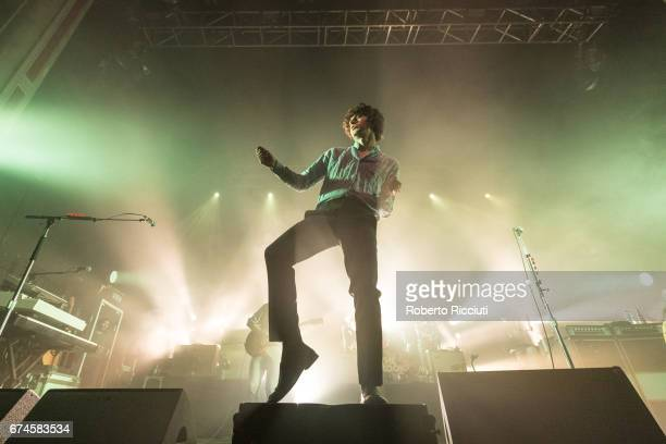 Luke Pritchard of The Kooks performs on stage at O2 Academy Glasgow on April 28 2017 in Glasgow Scotland