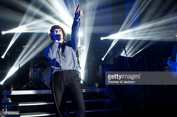 Luke Pritchard of The Kooks performs on stage at O2 Academy on October 3 2011 in Newcastle upon Tyne United Kingdom