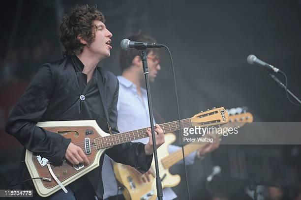 Luke Pritchard of The Kooks performs on stage during the second day of Rock Am Ring on June 04 2011 in Nuerburg Germany