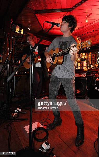Luke Pritchard of The Kooks performs onstage for the Arthurs Day Guinness 250th Anniversary Celebration held at the Foggy Dew on September 24 2009 in...