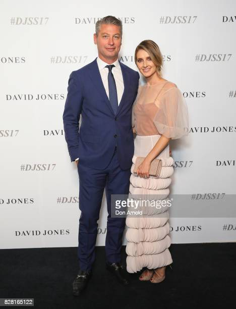 Luke Ricketson and Kate Waterhouse arrive ahead of the David Jones Spring Summer 2017 Collections Launch at David Jones Elizabeth Street Store on...