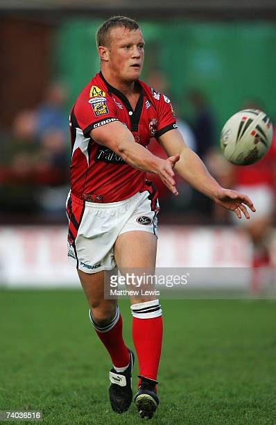 Luke Robinson of Salford City Reds in action during the engage Super League match between Salford City Reds and Wigan Warriors at the Willows on...