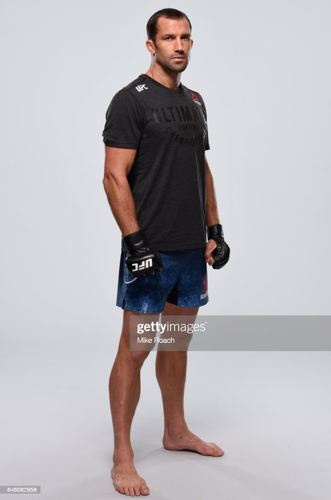 Luke Rockhold poses for a portrait during a UFC photo session on September 13, 2017 in Pittsburgh, Pennsylvania.