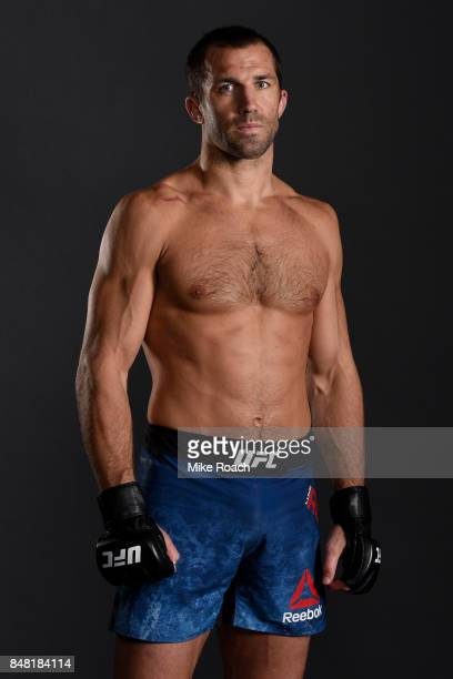 Luke Rockhold poses for a post fight portrait backstage during the UFC Fight Night event inside the PPG Paints Arena on September 16 2017 in...