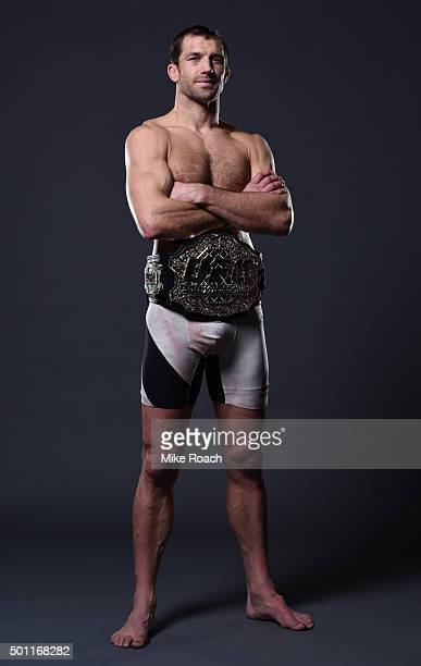 Luke Rockhold poses for his postfight portraits at UFC 194 event inside MGM Grand Garden Arena on December 12 2015 in Las Vegas Nevada