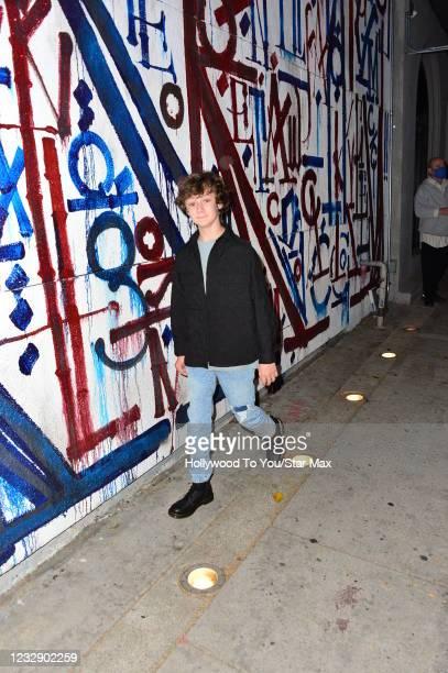 Luke Roessler is seen on May 14, 2021 in Los Angeles, California.