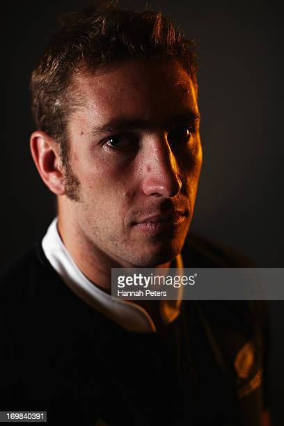 Luke Romano of the All Blacks poses during a New Zealand All Blacks portrait session at The Heritage Hotel at The Heritage Hotel on June 3 2013 in...