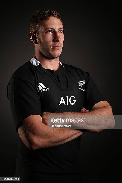 Luke Romano poses during a New Zealand All Blacks portrait session at the Heritage Hotel on November 1 2012 in Auckland New Zealand