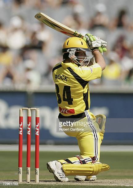 Luke Ronchi of the Warriors in action during the Twenty20 Big Bash match between the Victorian Bushrangers and the Western Australian Warriors at the...