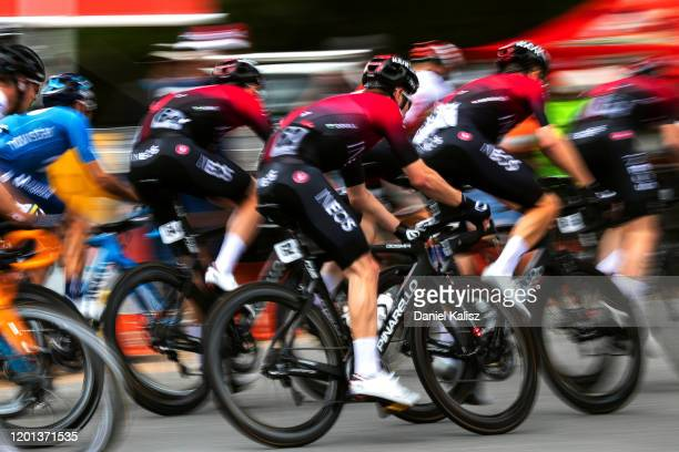 Luke Rowe of Great Britain and Team INEOS / Owain Doull of Great Britain and Team INEOS / Dylan Van Baarle of Netherlands and Team INEOS / during the...