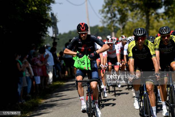 Luke Rowe of The United Kingdom and Team INEOS Grenadiers / Feeding / during the 107th Tour de France 2020, Stage 8 a 141km stage from...