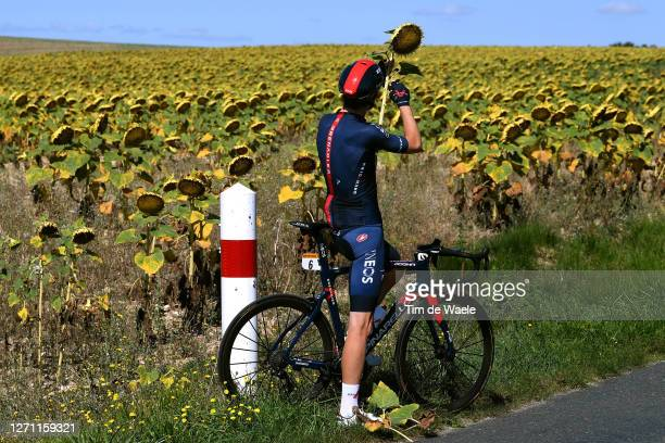 Luke Rowe of The United Kingdom and Team INEOS Grenadiers / Sunflowers / Fun / during the 107th Tour de France 2020 Stage 10 Training Team INEOS...