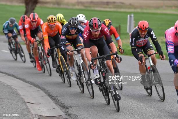 Luke Rowe of The United Kingdom and Team INEOS / Tim Merlier of Belgium and Team AlpecinFenix / John Degenkolb of Germany and Team Lotto Soudal /...